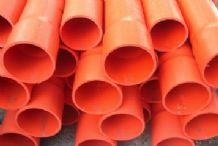 80mm x 4m Heavy Duty Orange Conduit Pipe SWJ
